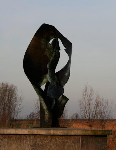 Het vlakke land, 250 cm, 2003. Opdracht: gemeente Dronten. Locatie: Biddinghuizen.