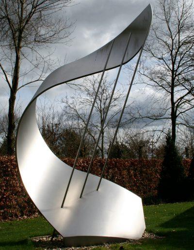 Windharp, 350 cm, rvs, unicum